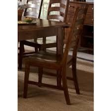 A America Toluca ladder Back Dining Side Chair   Rustic Amber   Set of 2