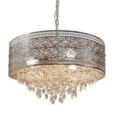 Silver Orchid Swanson Nickel Crystal 3 light Chandelier   23 625 l x 23 625 W x 15 H  Retail 237 99