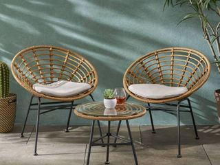 Pigment Outdoor Modern Boho chairs only set of 2