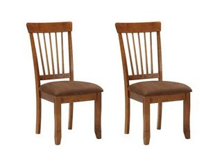 Berringer Dining Room Chair   Set of 2   Rustic Brown  Retail 156 87 brown