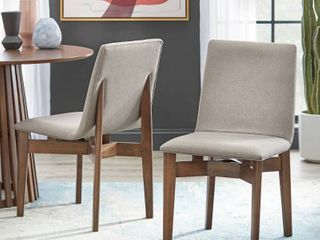 lifestorey Pavia Dining Chair  Set of 2  Retail 185 99 walnut