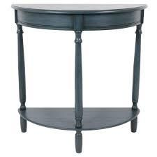 Copper Grove Braunau Half circle Round Accent Table antique navy
