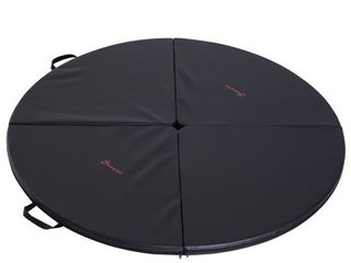 Soozier Round Folding Portable Pole Dance Crash Mat   Black  Retail 88 49