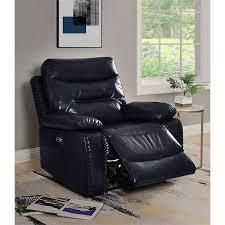 ashi recliner power motion navy