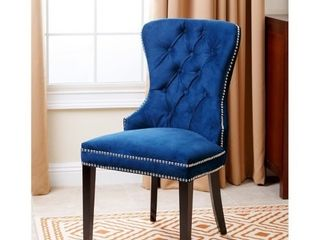 Abbyson Versailles Blue Tufted Dining Chair  Retail 289 99