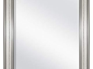 MCS 18x24 Inch Ridged Mirror  23x29 Inch Overall Size  Silver  20579