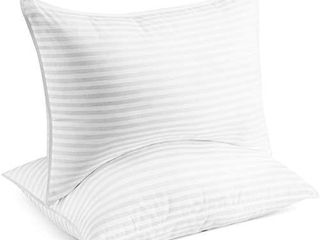 Beckham Hotel Collection Gel Pillow  2 Pack    luxury Plush Gel Pillow   Dust Mite Resistant   Hypoallergenic   King