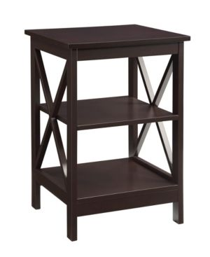 Convenience Concepts Oxford End Table with Open Shelf Storage