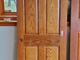 30in x 80in Solid Oak Door