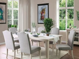Furniture of America Sope Modern White Dining Chairs  Set of 4  Retail 282 49