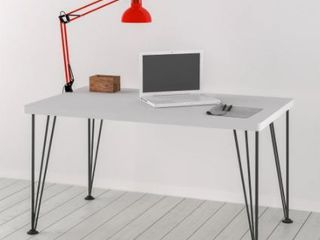 Study Desk with Wood Base and Metal legs