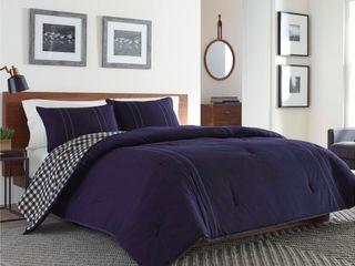 Navy Kingston Comforter Set  King    Eddie Bauer