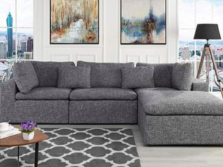 Incomplete large Sectional Sofa l Shaped Couch  2 Corners That Make A lovely loveseat