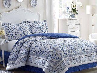Blue Charlotte China Comforter Set  King    laura Ashley