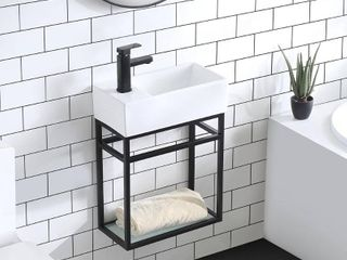 Swiss Madison 19 5 in  Pierre Bath Vanity with Vanity Top in Glossy White Basin  Retail   279 49