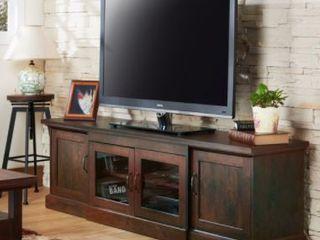 Furniture of America Brick Rustic 68 inch  6 Shelf TV stand