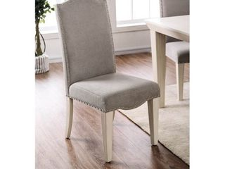 Furniture of America Sope Modern White Dining Chairs  Set of 2  Retail 282 49