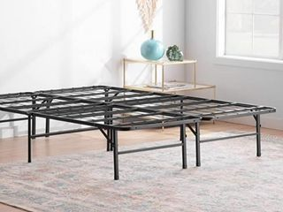 linenspa 14 Inch Folding Metal Platform Full Bed Frame   13 Inches Of Clearance