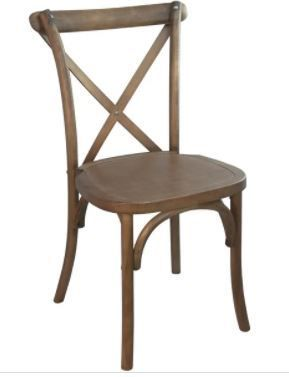 X Back Dinning Armless Chair Dining Height  Set of 2