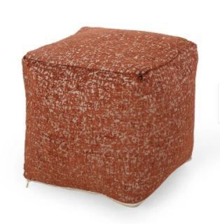 Kemp Handcrafted Bono Cube Pouf by Christopher Knight