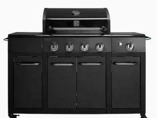 Kenmore Two Tone Black on Black 4 Burner Propane Grill with Side Burner  Retail  399 00