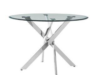 Incomplete  Glass Top Only  Putnam Dining Table Glass Top   Silver  Retail 347 99