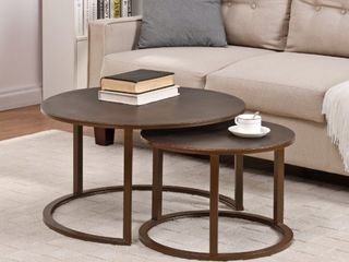 First Time  amp  Co Hayes Nesting Coffee Table 2 Piece Set  Bronze