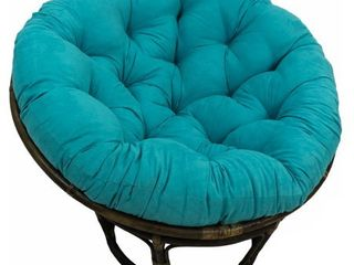 Blazing Needles 44 inch Microsuede Papasan Cushion Only  Aqua Blue  Base Not Included