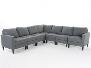 Incomplete  Zahra 2 Center Pieces Fabric Sectional Sofa Set by Christopher Knight Home  Retail 1126 49
