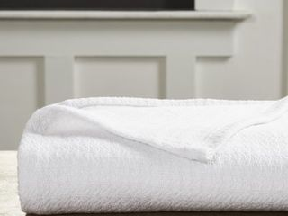 Impressions Solid Woven Cotton Blanket  King