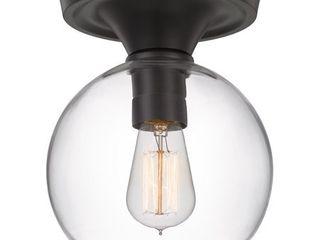 Quoizel Hawley 7 75 in Old Bronze Transitional Semi flush Mount light