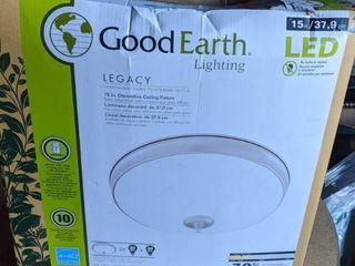 Good Earth lighting legacy 15 in Satin Nickel Traditional lED Flush Mount light ENERGY STAR