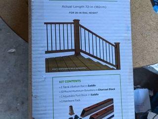 Trex Deck 36 Inch Rail Kit  saddle  6 Foot long Stair Railings 15 Balusters