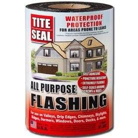 TITE SEAl All Purpose 9 in x 50 ft Rubberized Asphalt Roll Flashing