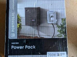 Portfolio 200 Watt 12 Volt Multi Tap landscape lighting Transformer with Digital Timer and Dusk to Dawn Sensor