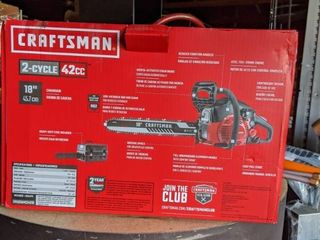 Craftsman 18  light Easy Start 2 Cycle low Vibration Gas Chainsaw With Case S180