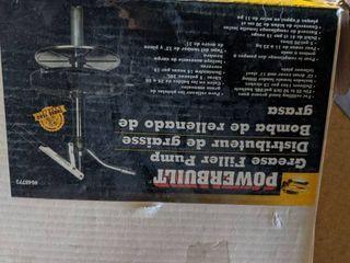 Powerbuilt Grease Gun Filler Pump 25 To 50lb Bucket W  Drum Cover Follower Plate