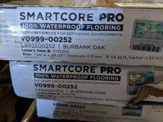 4 case lot SMARTCORE Pro 7 Piece 7 08 in x 48 03 in Burbank Oak luxury Vinyl Plank Flooring