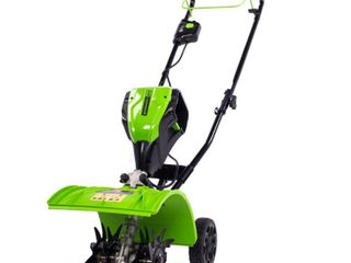 Greenworks Pro 60 Volt lithium Ion 8 in Cordless Electric Cultivator  Battery Included