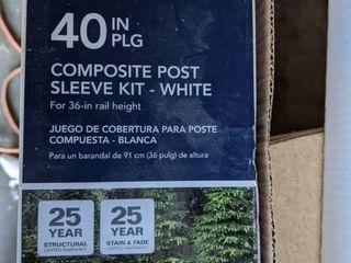 4x4 post sleeve kit
