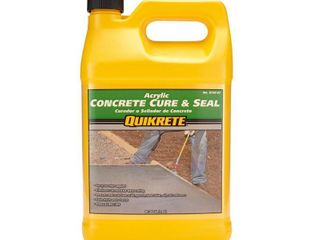 Quikrete Concrete Cure And Seal Satin Finish Concrete Sealer  Cap is broke  bottle is full