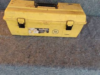large toolbox with contents