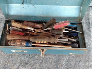 champion metal toolbox with contents