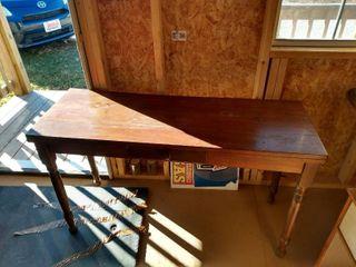 rustic look tall coffee table