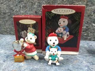 Pair of Vintage Hallmark Keepsake Ornaments