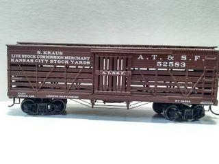 Kansas City Stock Yard HO Model Train Car   S  Kraus livestock Commission Merchant