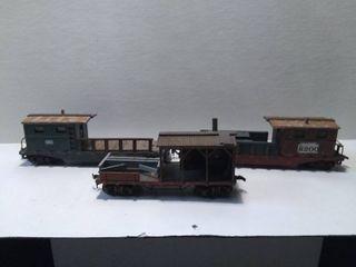 3 HO Model Train Cars