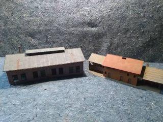 2 HO Model Train Buildings