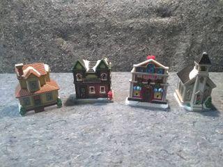 4 lED Tea light Christmas Decorations