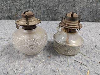 2 Vintage Oil lamp Bases
